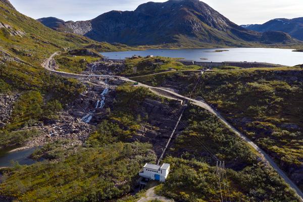 K3 kraftstasjon ved Roevatnet