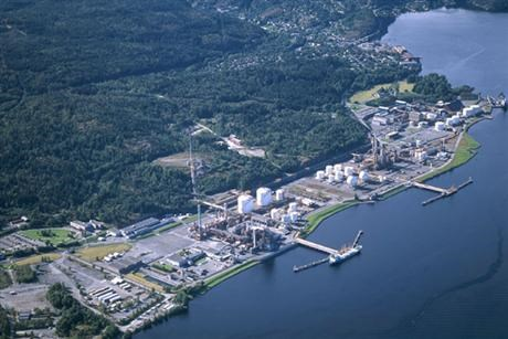 INEOS ChlorVinyls in Telemark Norway seen from above