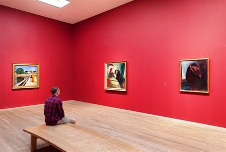 Statkraft sponsors Edvard Munch exhibition at Tate Modern in London red walls