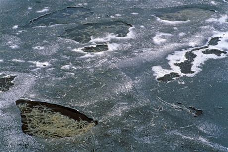 Unstable ice on regulated waters
