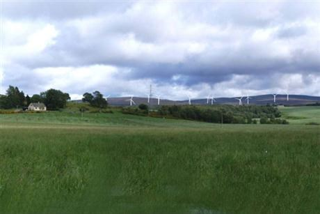 Wind farm in Scotland UK
