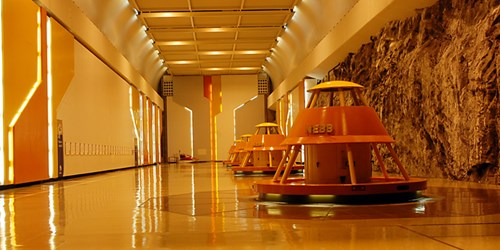 The machine room in Kvilldal hydropower plant