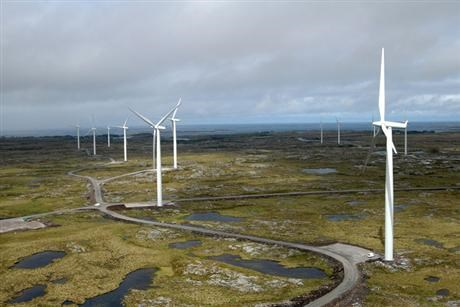 Wind farm in Norway overview