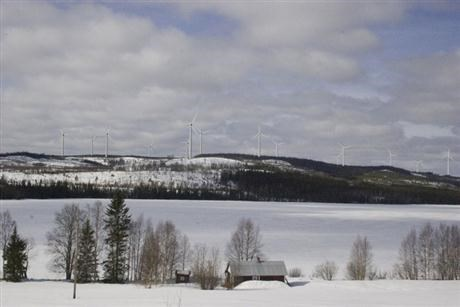 Wind farms in Sweden