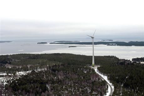 Wind farm in Sweden overview