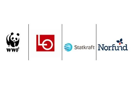 Logotypes of WWF LO Statkraft and Norfund